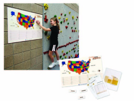 Climb Across America Geography Activity for Climbing Wall from Everlast Climbing
