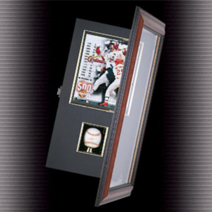 "Coach's Choice Single Baseball and 8"" x 10"" Photograph Shadow Box (Wood)"