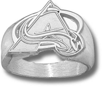 """Colorado Avalanche """"A Logo"""" 5/8"""" Men's Ring Size 10 1/2 - Sterling Silver Jewelry"""