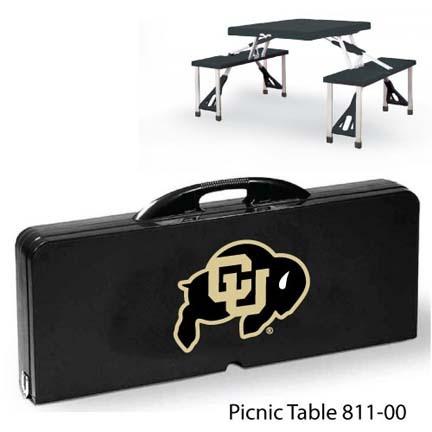 Colorado Buffaloes Portable Folding Table and Seats