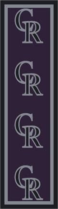 "Colorado Rockies 2' 1"" x 7' 8"" Team Repeat Area Rug Runner"