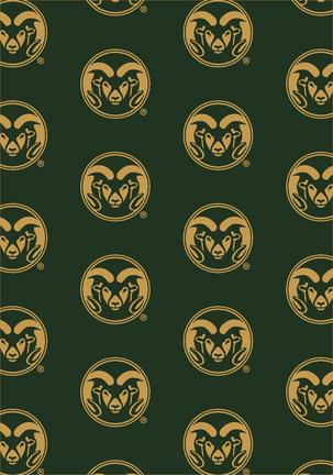 "Colorado State Rams 3' 10"" x 5' 4"" Team Repeat Area Rug"