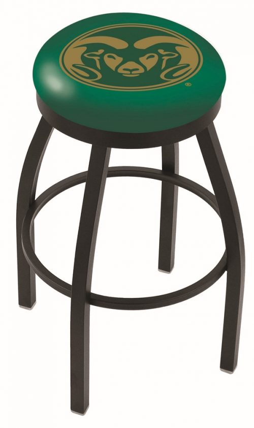 """Colorado State Rams (L8B2B) 25"""" Tall Logo Bar Stool by Holland Bar Stool Company (with Single Ring Swivel Black Solid Welded Base)"""