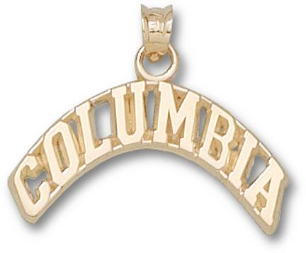 """Columbia Lions Arched """"Columbia"""" Pendant - 10KT Gold Jewelry"""