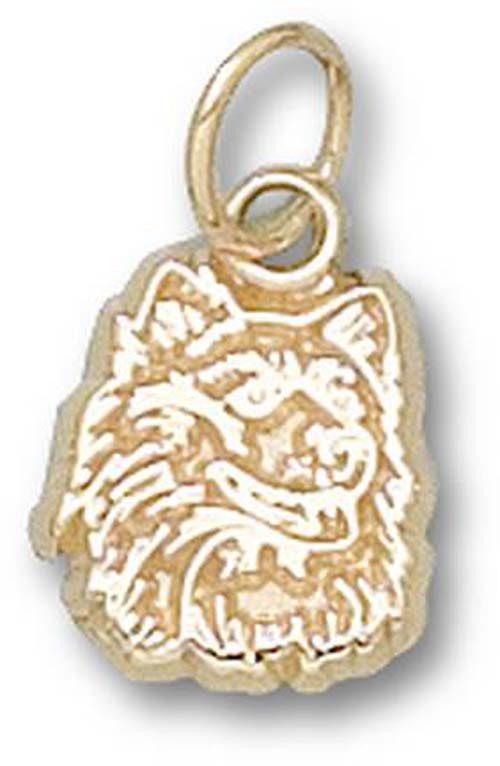 "Connecticut Huskies ""Huskie Head"" 3/8"" Charm - 10KT Gold Jewelry"