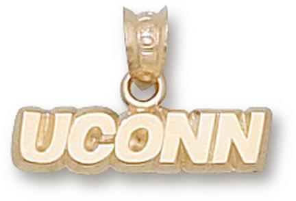 "Connecticut Huskies ""UConn"" 3/16"" Pendant - 14KT Gold Jewelry"