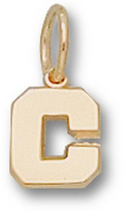 "Cornell Big Red Bears ""C"" 1/4"" Charm - 14KT Gold Jewelry"