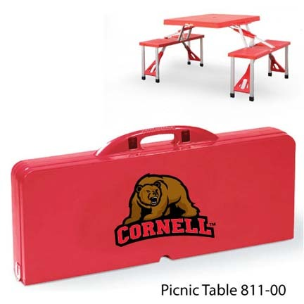 Cornell Big Red Bears Portable Folding Table and Seats
