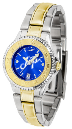 Creighton Blue Jays Competitor AnoChrome Ladies Watch with Two-Tone Band