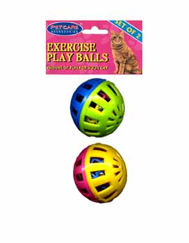 DDI 237889 2 Pack Exercise Play Balls for Cats Case Of 24