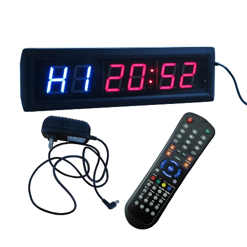 DLC IN2B1.8R 1.8 in. High Character LED Digital Interval Clock Blue Plus Red