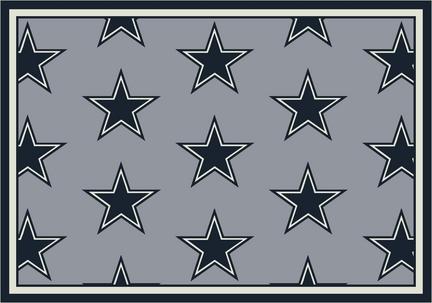 """Dallas Cowboys 3' 10"""" x 5' 4"""" Team Repeat Area Rug (Gray)"""