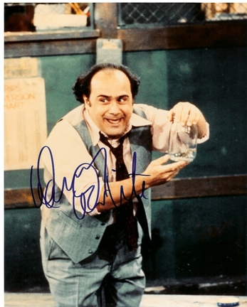 """Danny Devito Autographed """"Taxi"""" 8"""" x 10"""" Photograph (Unframed)"""