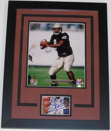 """Daunte Culpepper Autographed University of UCF (Central Florida) Knights with an 8"""" x 10"""" Custom Framed Photograph"""