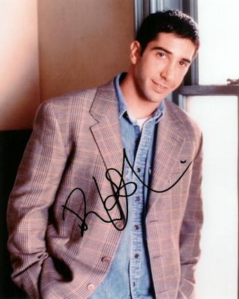 """David Schwimmer Autographed """"Friends"""" 8"""" x 10"""" Photograph (Unframed)"""