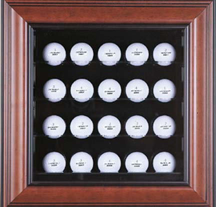 Deluxe 20 Golf Ball Cabinet Style Display Case