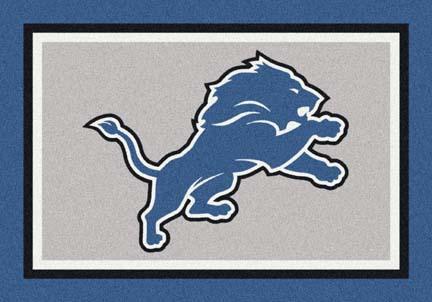 "Detroit Lions 3'10"" x 5'4"" Team Spirit Area Rug"