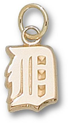 "Detroit Tigers ""D"" 3/8"" Charm - 10KT Gold Jewelry"