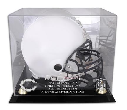 Dick Butkus Chicago Bears Hall of Fame 1979 Golden Classic Helmet Case