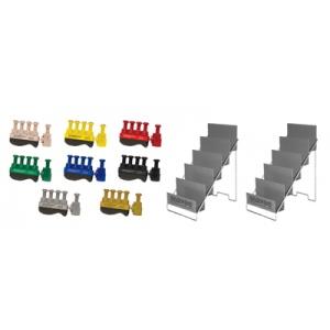 Digi-Flex 10-3787 Fitness Hand Exerciser with 2 Metal Stands - Set of 8