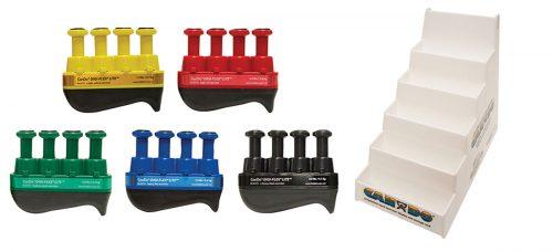 Digi-Flex 10-3798 Fitness Hand Exerciser with Plastic Stand - Set of 5
