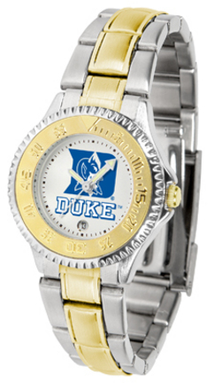 Duke Blue Devils Competitor Ladies Watch with Two-Tone Band