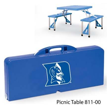 Duke Blue Devils Portable Folding Table and Seats