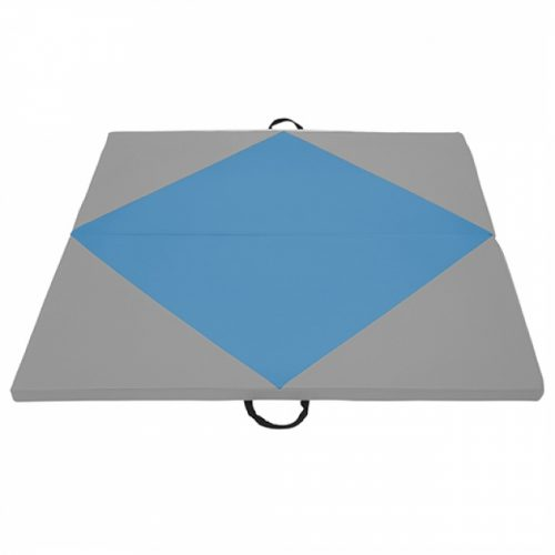 Early Childhood Resources ELR-12205-FBGY 4 x 4 in. SoftZone Diamond Play Mat French Blue & Grey