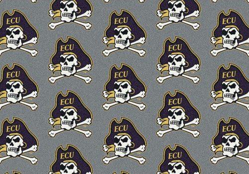 """East Carolina Pirates 3' 10"""" x 5' 4"""" Team Repeat Area Rug"""