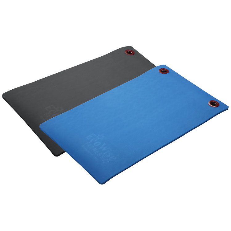 EcoWise 80501 0.5 x 20 x 48 in. Elite Workout Mat with Eyelets Black
