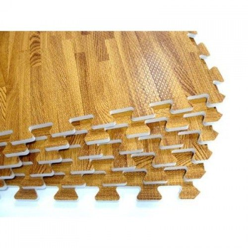 Element Fitness E-100-WPF Wood Finish Interlocking Floor Mats