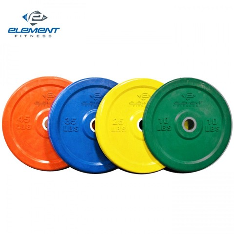 Element Fitness E-200-CRP25 Commercial Colored Bumper Plates 25 lbs.