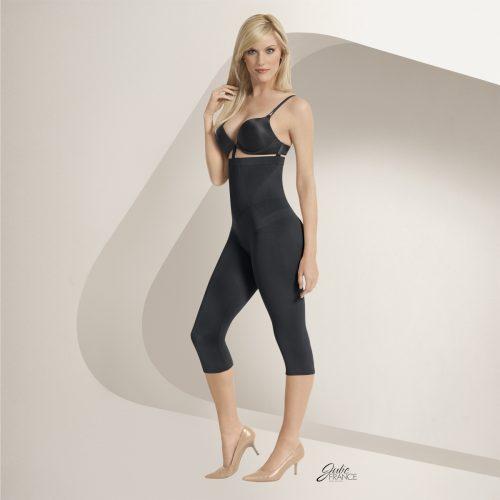 EuroSkins JF019-B-S Julie France High Waist Capri Legging Black - Small