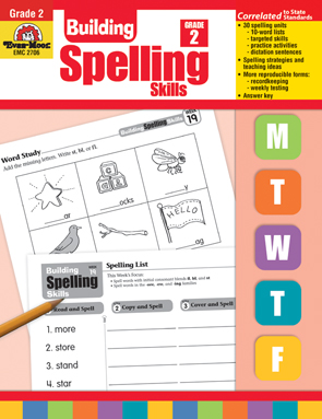 Evan Moor Educational Publishers 2706 Building Spelling Skills Grade 2