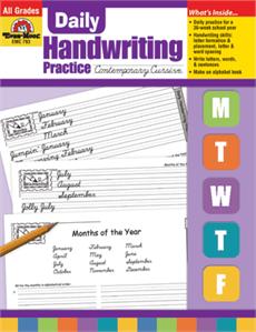 Evan-Moor Educational Publishers 793 Daily Handwriting Practice Contemporary Cursive