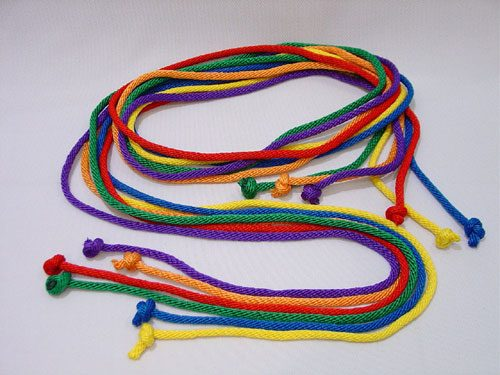 Everrich EVA-0014 Durable Nylon Jump Ropes - 10 Feet - Set of 6