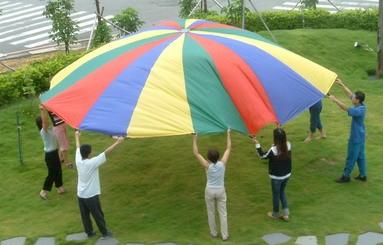 Everrich EVC-0072 4 Color Parachutes - 16 Handles - 20 Feet