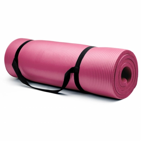 Extra Thick - .75 in Yoga Mat - Pink