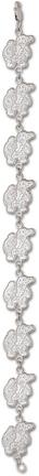 "Florida Gators ""Classic Albert"" 7"" Bracelet - Sterling Silver Jewelry"