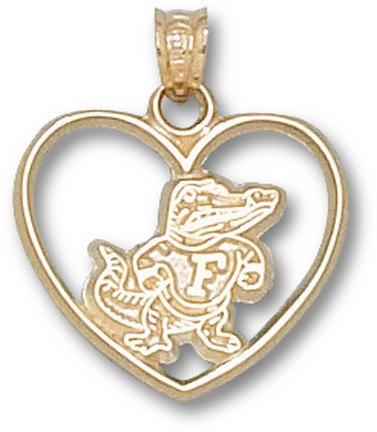"Florida Gators ""Classic Albert Heart"" Pendant - 10KT Gold Jewelry"