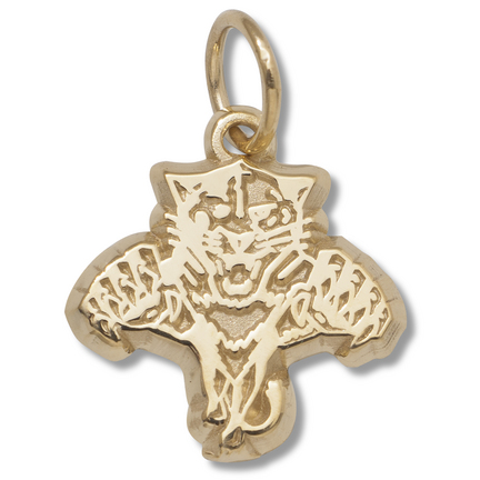 """Florida Panthers 3/8"""" Primary Logo Charm - 10KT Gold Jewelry"""