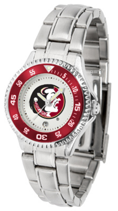 Florida State Seminoles Competitor Ladies Watch with Steel Band