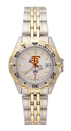 "Florida State Seminoles ""FS with Feather"" All Star Watch with Stainless Steel Band - Women's"
