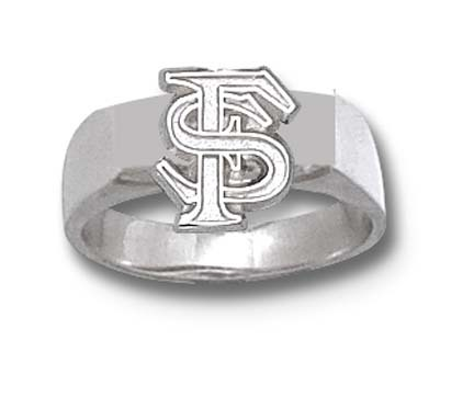 "Florida State Seminoles Interlock ""FS"" 3/8"" Ladies' Ring Size 7 - Sterling Silver Jewelry"