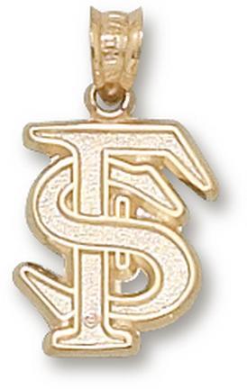 "Florida State Seminoles Interlocked ""FS"" 1/2"" Pendant - 14KT Gold Jewelry"