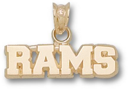 "Fordham Rams ""Rams"" 1/4"" Pendant - 10KT Gold Jewelry"