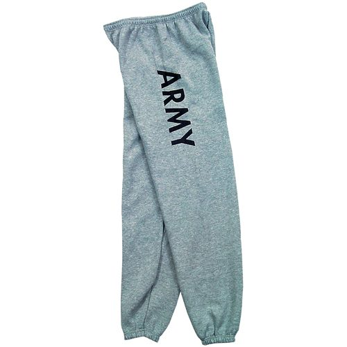 Fox Outdoor 64-75 XXXL Mens Army One Sided imprint Sweatpant Grey - 3 XL