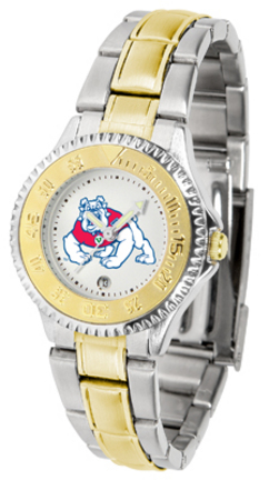 Fresno State Bulldogs Competitor Ladies Watch with Two-Tone Band