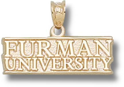 "Furman Paladins ""Furman University"" Pendant - 10KT Gold Jewelry"