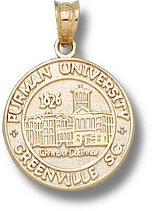 "Furman Paladins New ""Seal"" Pendant - 10KT Gold Jewelry"